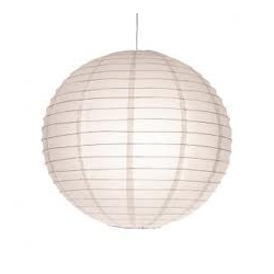 "Boules chinoises blanches 18"" (45cm)"