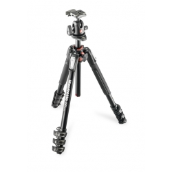 Manfrotto kit trépied 190 alu 4 sections + rotule ball