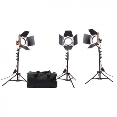Kit de 3 torches Mandarine Led 24W  - Orange