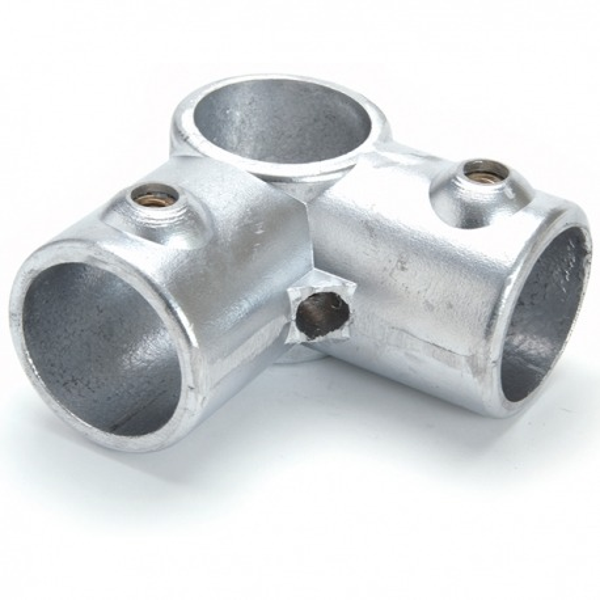 Raccord de tube Ø 50 mm en fonte - angle pour 3 tubes 90°