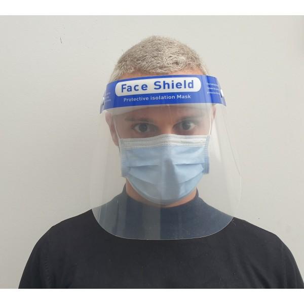 Masque de protection visière confort avec support front mousse
