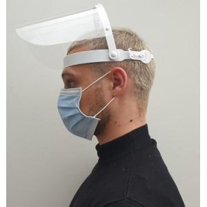 Masque de protection visière plastique multipositions