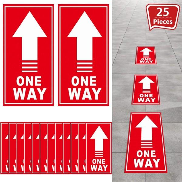 Autocollant au Sol  One Way Signe Directionnelle 25 Pièces