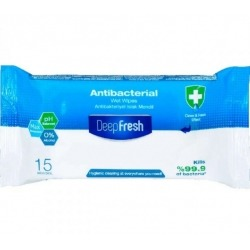 Lingettes Bactericides Deep Fresh