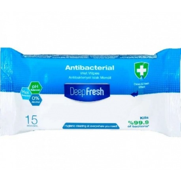Lingettes Bactericides Deep Fresh