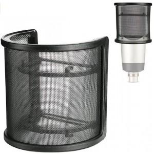 Pare-brise filtre masque bouclier Microphone