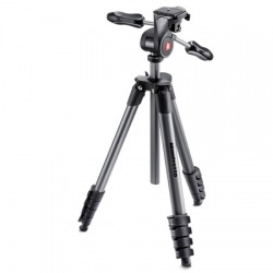 Trépied photo complet 5 sections aluminium MANFROTTO Compact Advanced