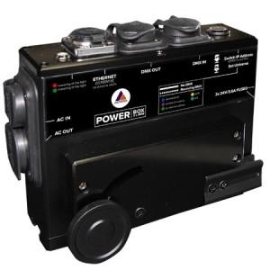 Powerbox Astera charge et distribution DMX sur jusqu'à 8 PixelBrick