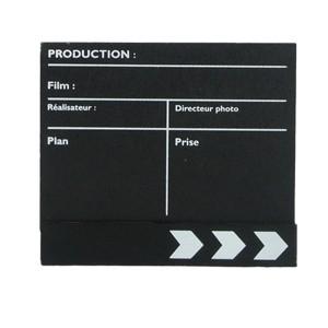 Clap cinéma noir mini modèle fin de film 165 x 140mm