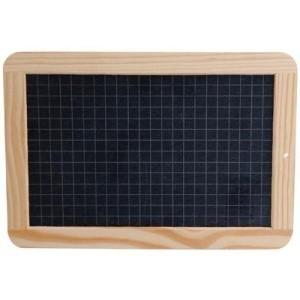 Ardoise rectangle bois avec boite de craies