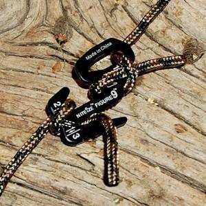 Nite Ize figure 9 noir avec corde / 67.5 kg