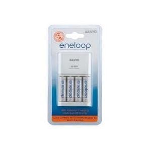Chargeur rapide de piles + 4 piles LR6 Eneloop