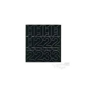Chiffres + symboles adhésifs noir 75mm