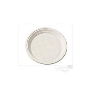 Assiettes plastique blanches 20.5cm 100pc