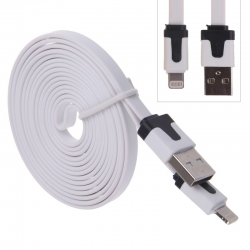 Cable Plat Lightning vers USB