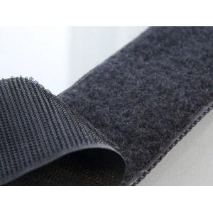 Velcro adhesif Noir 25mm rouleau M/F