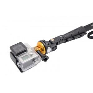 Fixations aluminium pour trépied compatible GoPro