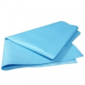 Chiffon d'essuyage optique bleu non tissé (par 50)