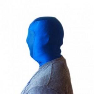Capuche bleu chromakey