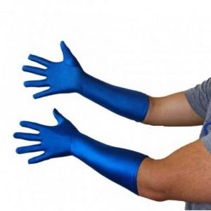 Gants bleu chromakey