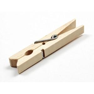 pinces à linge en bois par 36