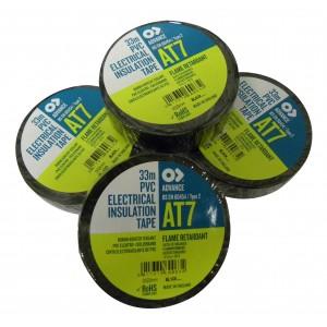 Ruban adhésif isolant electrique PVC Noir 25 mm. x 33 m