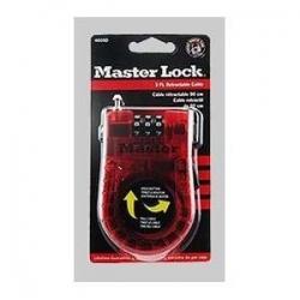 Master Lock Antivol à code avec câble retractable