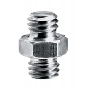 """Manfrotto 125 - Petit adaptateur spigot 3/8"""" male et 3/8"""" male"""