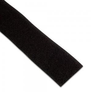 Velcro non-adhésif Femelle 25mm Noir au mètre