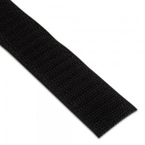 Velcro 25mm Noir boucle/crochet au mètre