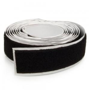 Velcro adhésif Femelle 25mm Noir au mètre
