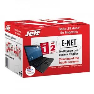 Jelt E-NET Lingette Humides / Sèches pour nettoyer les écrans