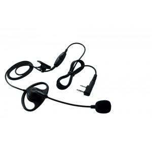 Kenwood Micro-casque avec oreillette et PTT pour TK 3401